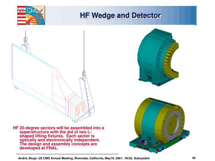 HF Wedge and Detector