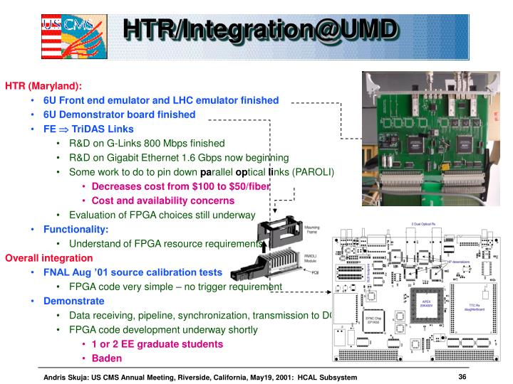 HTR/Integration@UMD