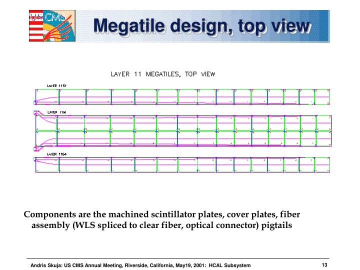 Megatile design, top view