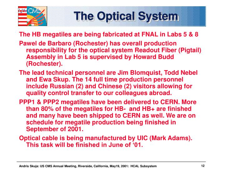 The Optical System