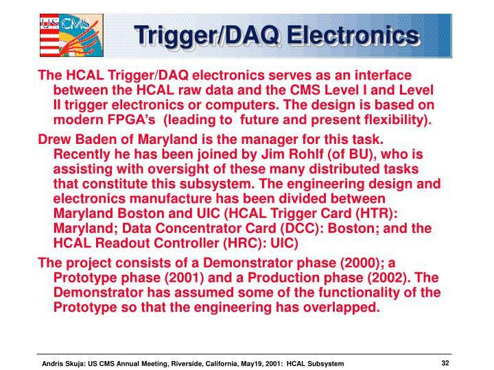 Trigger/DAQ Electronics
