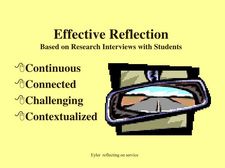 Effective Reflection