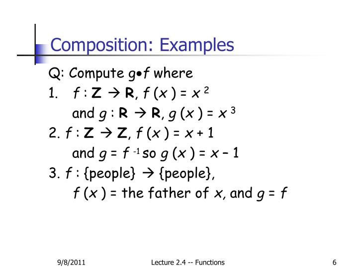 Composition: Examples
