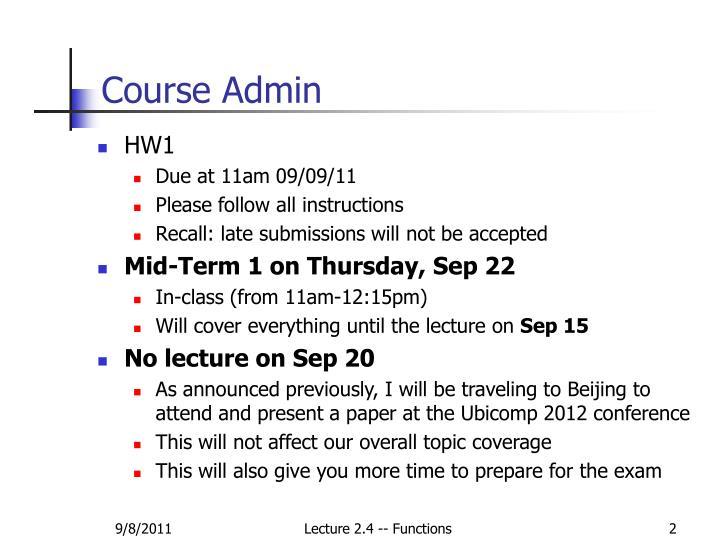 Course Admin