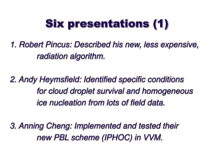 Six presentations (1)