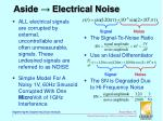 aside electrical noise