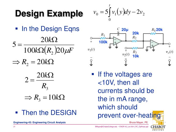 In the Design Eqns