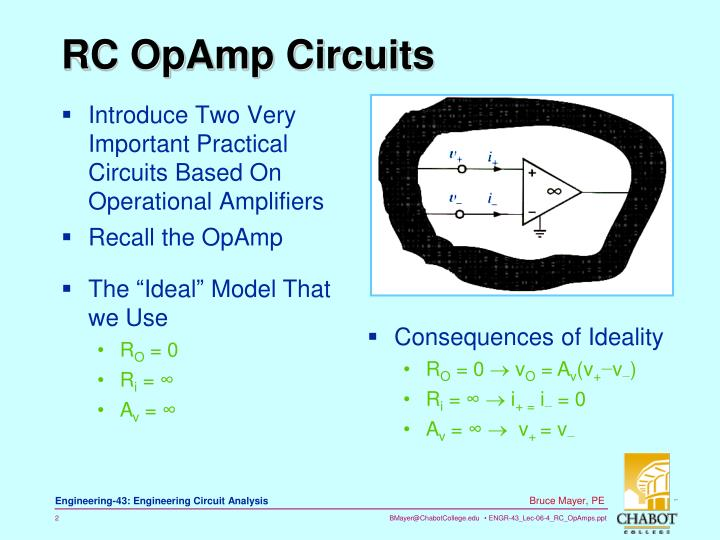 Rc opamp circuits
