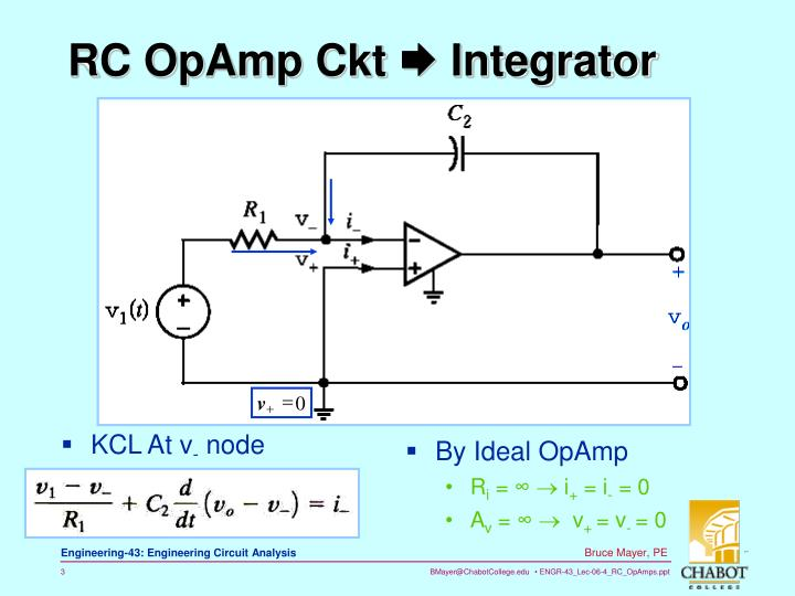 Rc opamp ckt integrator