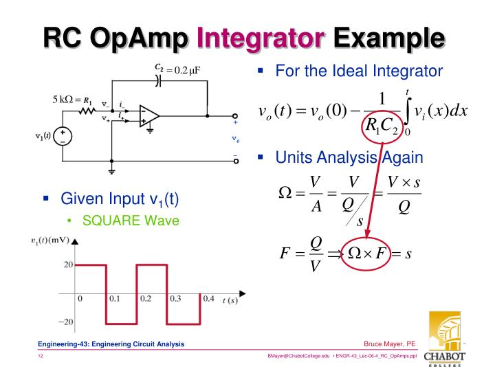 RC OpAmp