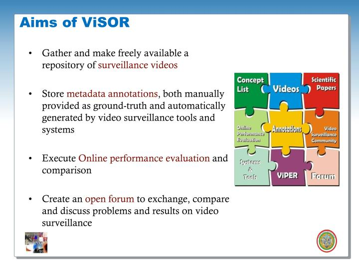Aims of ViSOR