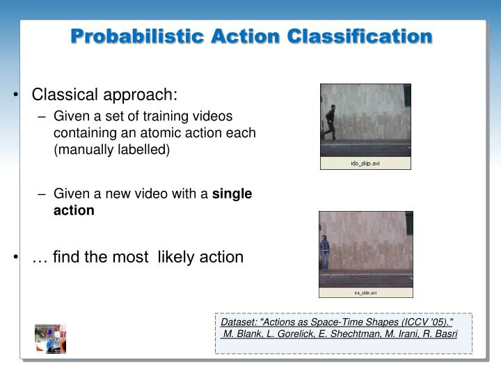 Probabilistic Action Classification