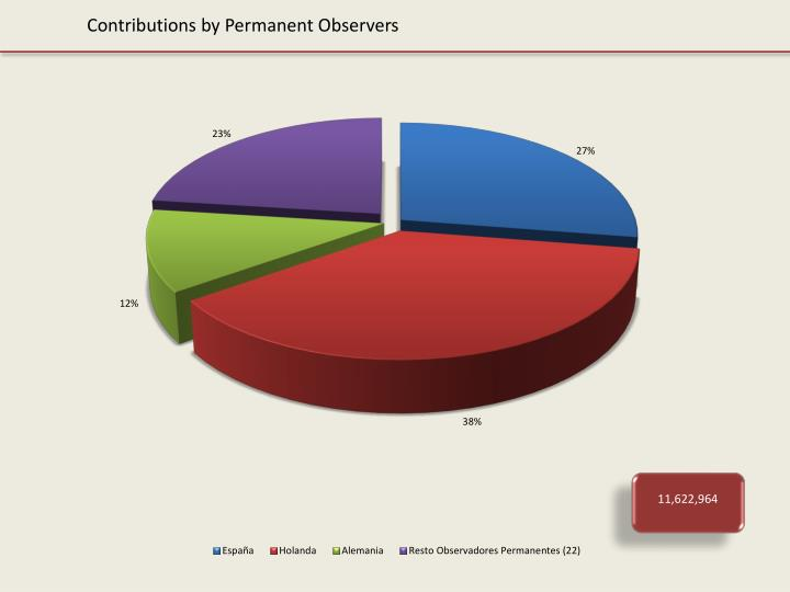 Contributions by Permanent Observers