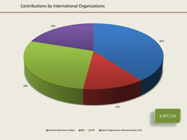 Contributions by International Organizations