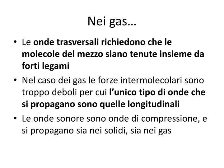 Nei gas…
