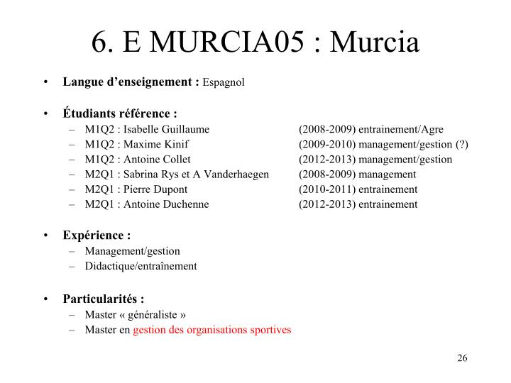 6. E MURCIA05 : Murcia