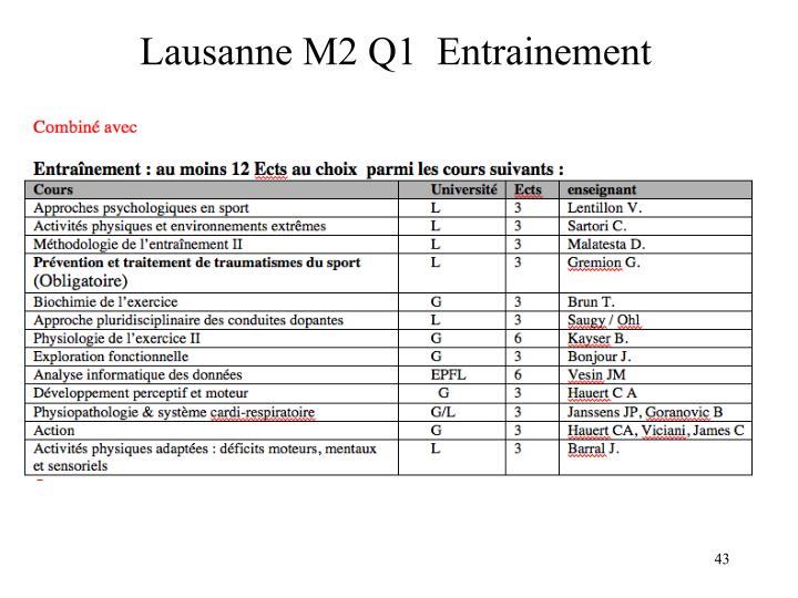 Lausanne M2 Q1  Entrainement