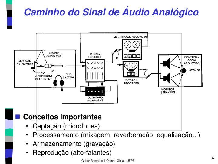 Caminho do Sinal de Áudio Analógico
