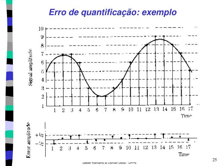Erro de quantificação: exemplo