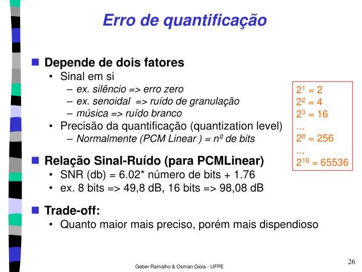 Erro de quantificação