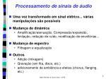 processamento de sinais de udio