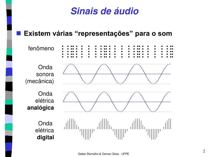 Sinais de áudio