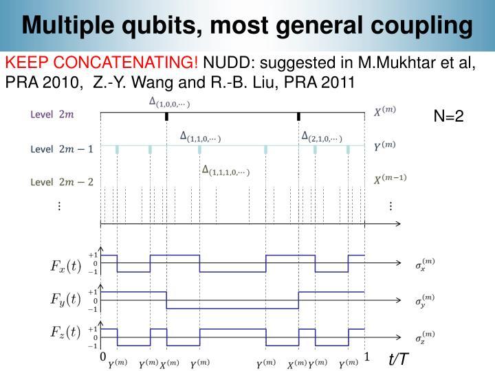 Multiple qubits, most general coupling