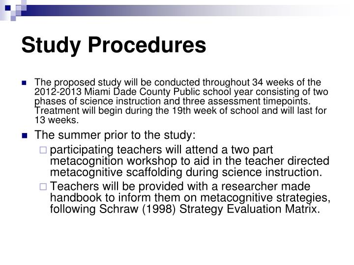Study Procedures