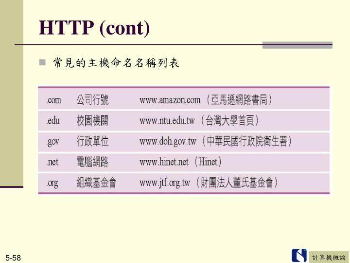 HTTP (cont)