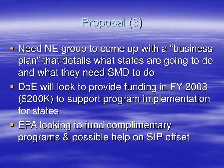 Proposal (3)