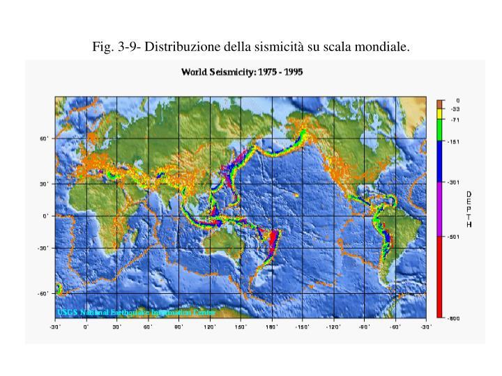 Fig. 3-9- Distribuzione della sismicità su scala mondiale.