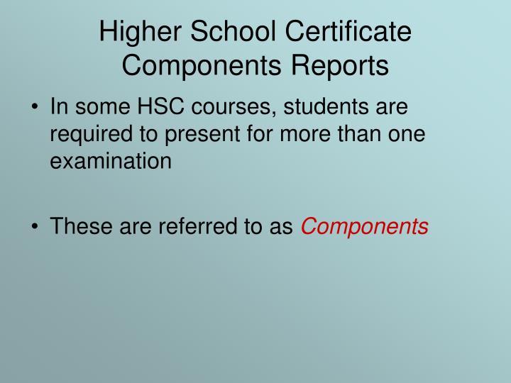 Higher School Certificate