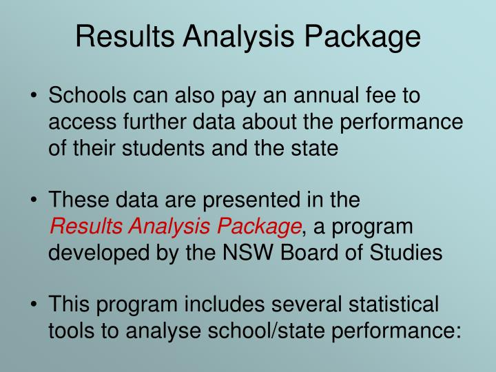 Results Analysis Package