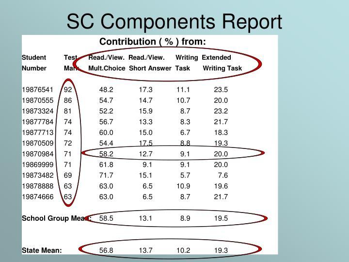 SC Components Report
