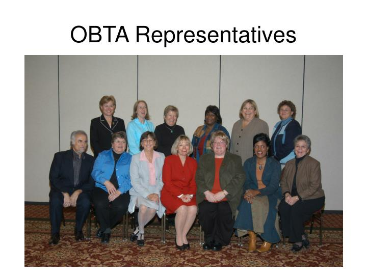 OBTA Representatives