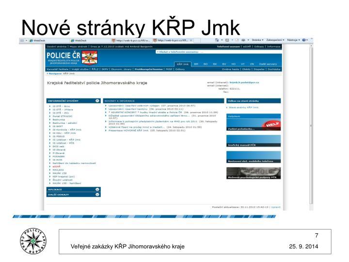 Nové stránky KŘP Jmk
