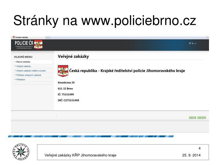 Stránky na www.policiebrno.cz