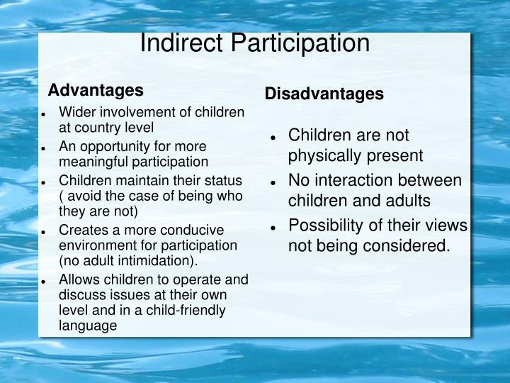 Indirect Participation