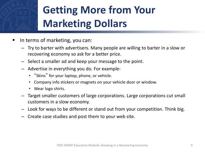 Getting More from Your Marketing Dollars