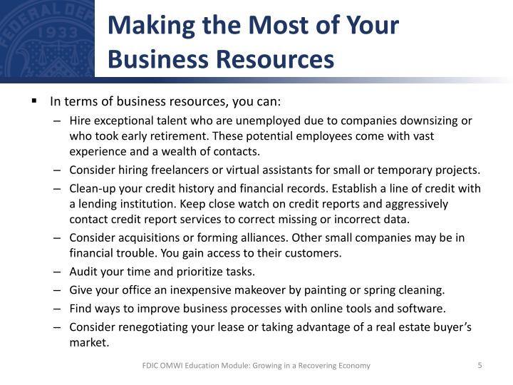 Making the Most of Your Business Resources