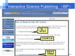 interactive science publishing isp