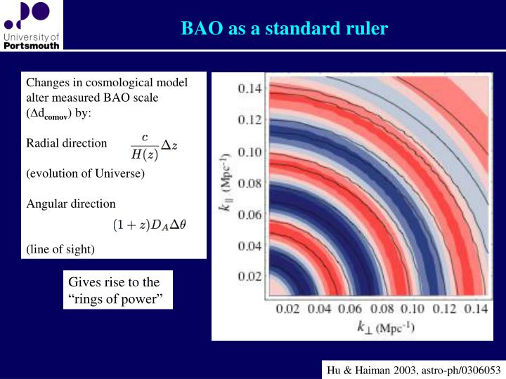 BAO as a standard ruler