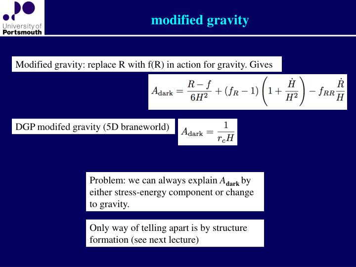 modified gravity