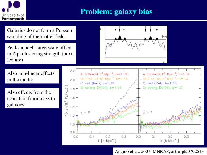 Problem: galaxy bias
