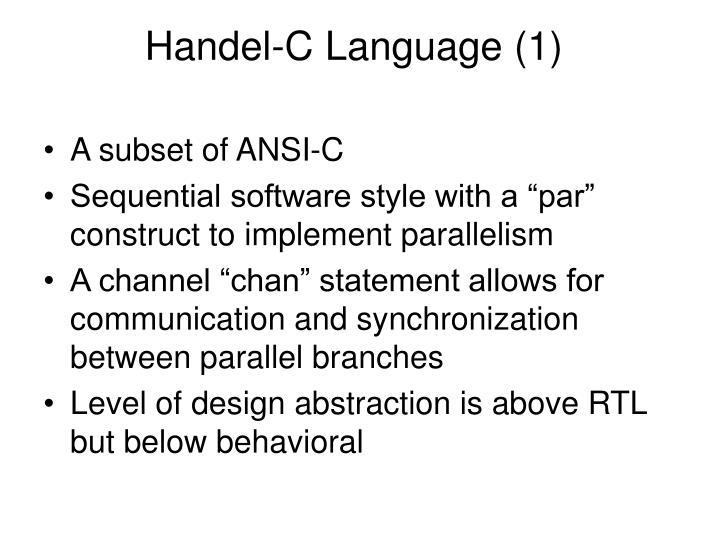 Handel-C Language (1)