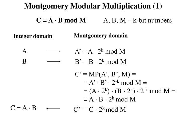 Montgomery Modular Multiplication (1)