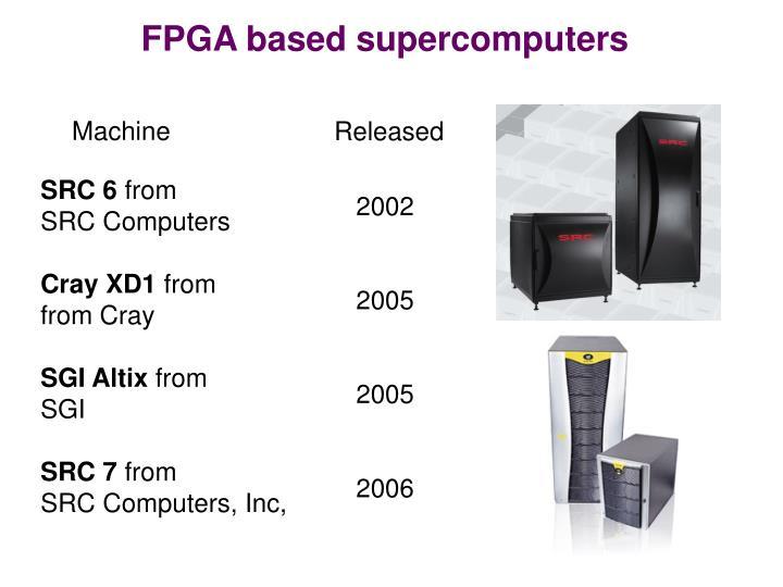 FPGA based supercomputers