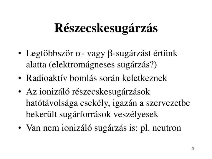 Részecskesugárzás