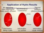application of hydro results1