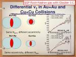 differential v 2 in au au and cu cu collisions
